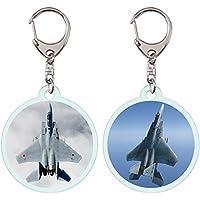 GJ-Japan クリア アクリル キーホルダー 2個セット 航空自衛隊 F-15J 戦闘機