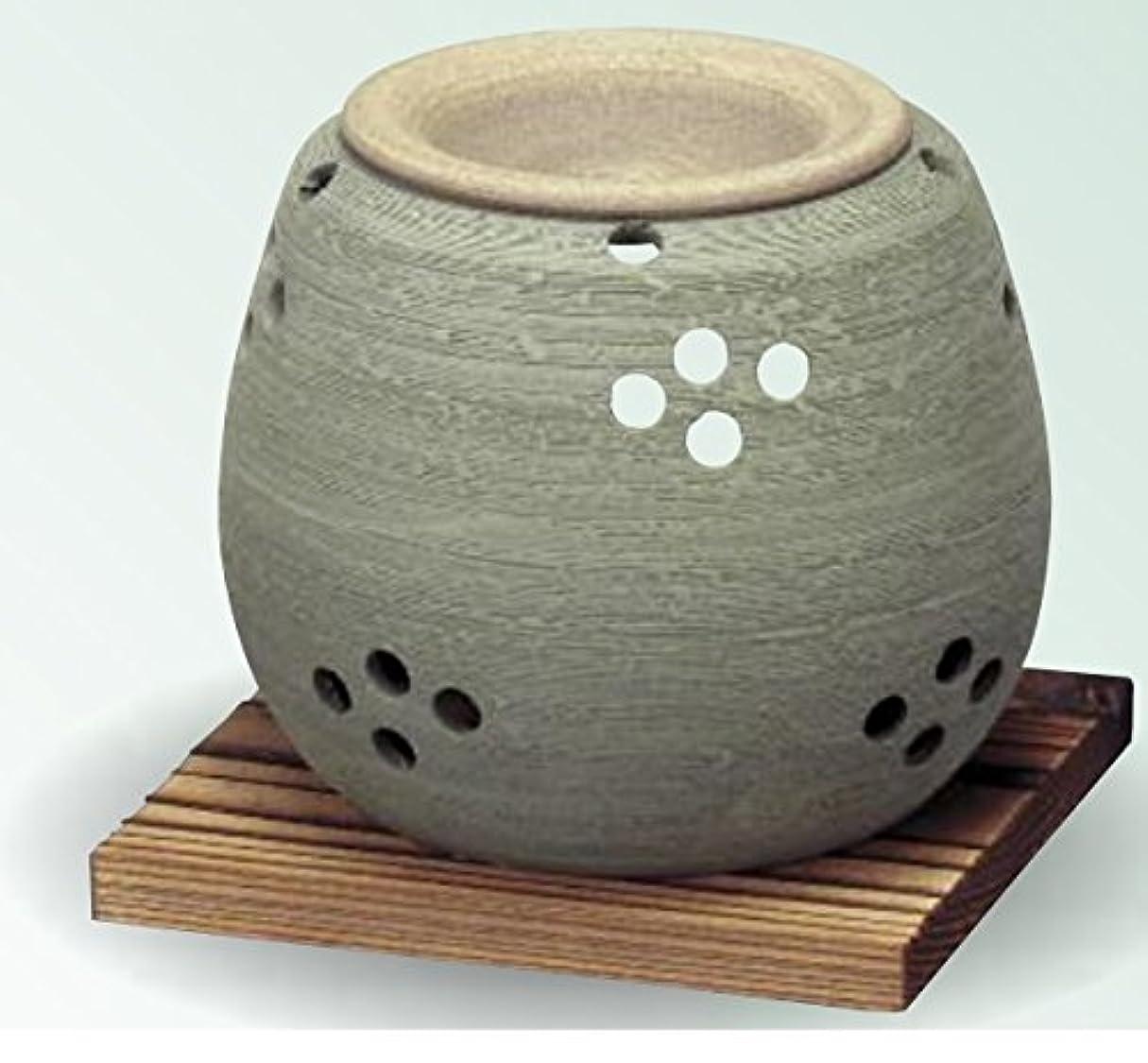 ドキドキスズメバチ短くする常滑焼 茶香炉(アロマポット)径10×高さ9cm