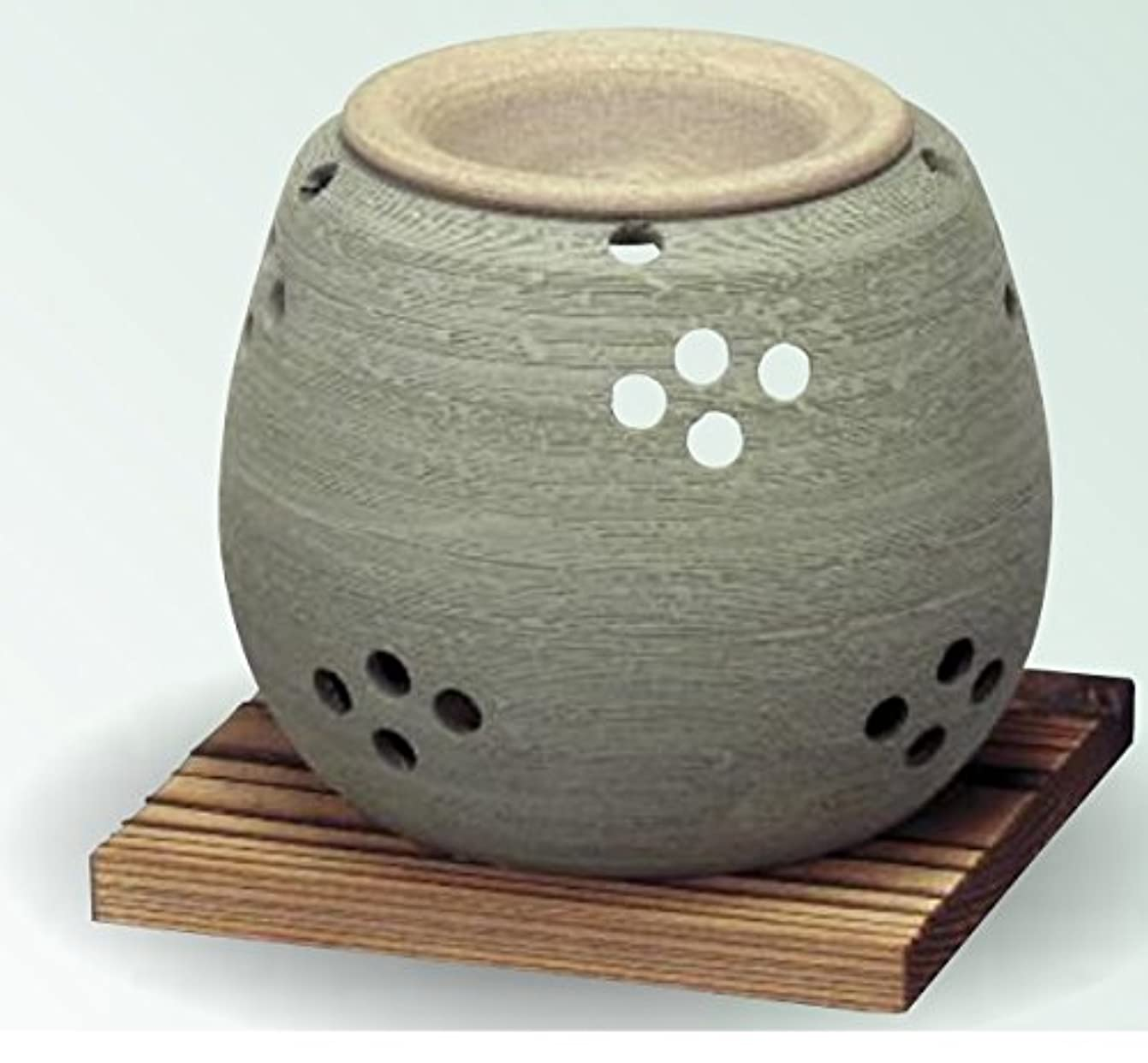 ひねくれた無限夕暮れ常滑焼 茶香炉(アロマポット)径10×高さ9cm