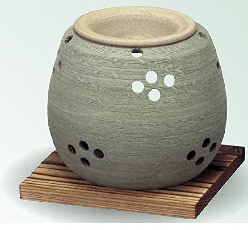 先生プロフェッショナル移住する常滑焼 茶香炉(アロマポット)径10×高さ9cm