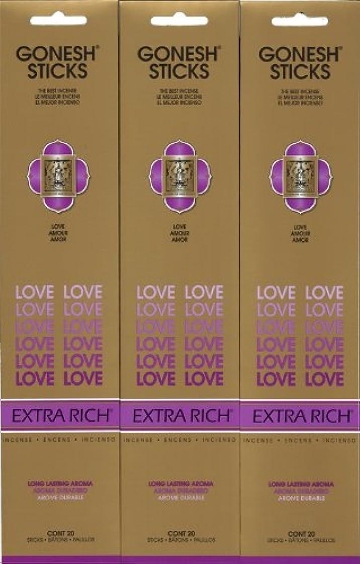 平日契約するデュアルGONESH LOVE ラブ スティック 20本入り X 3パック (60本)
