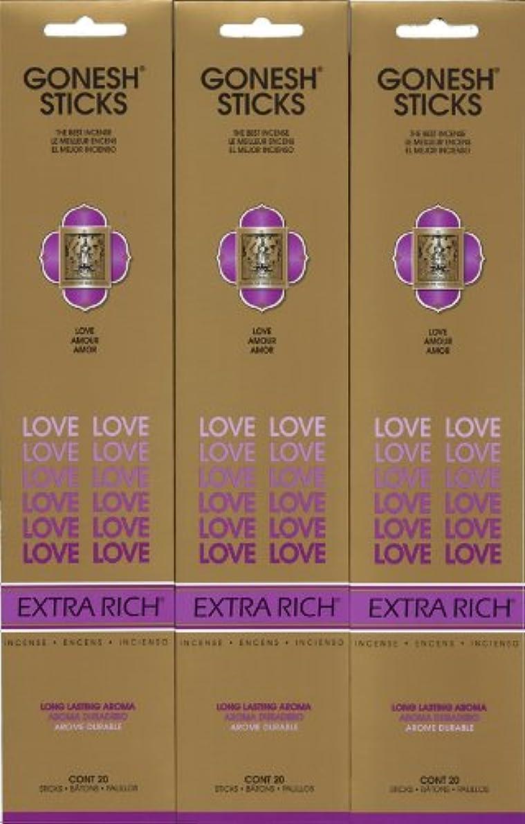 クレーターロードハウスサイトGONESH LOVE ラブ スティック 20本入り X 3パック (60本)