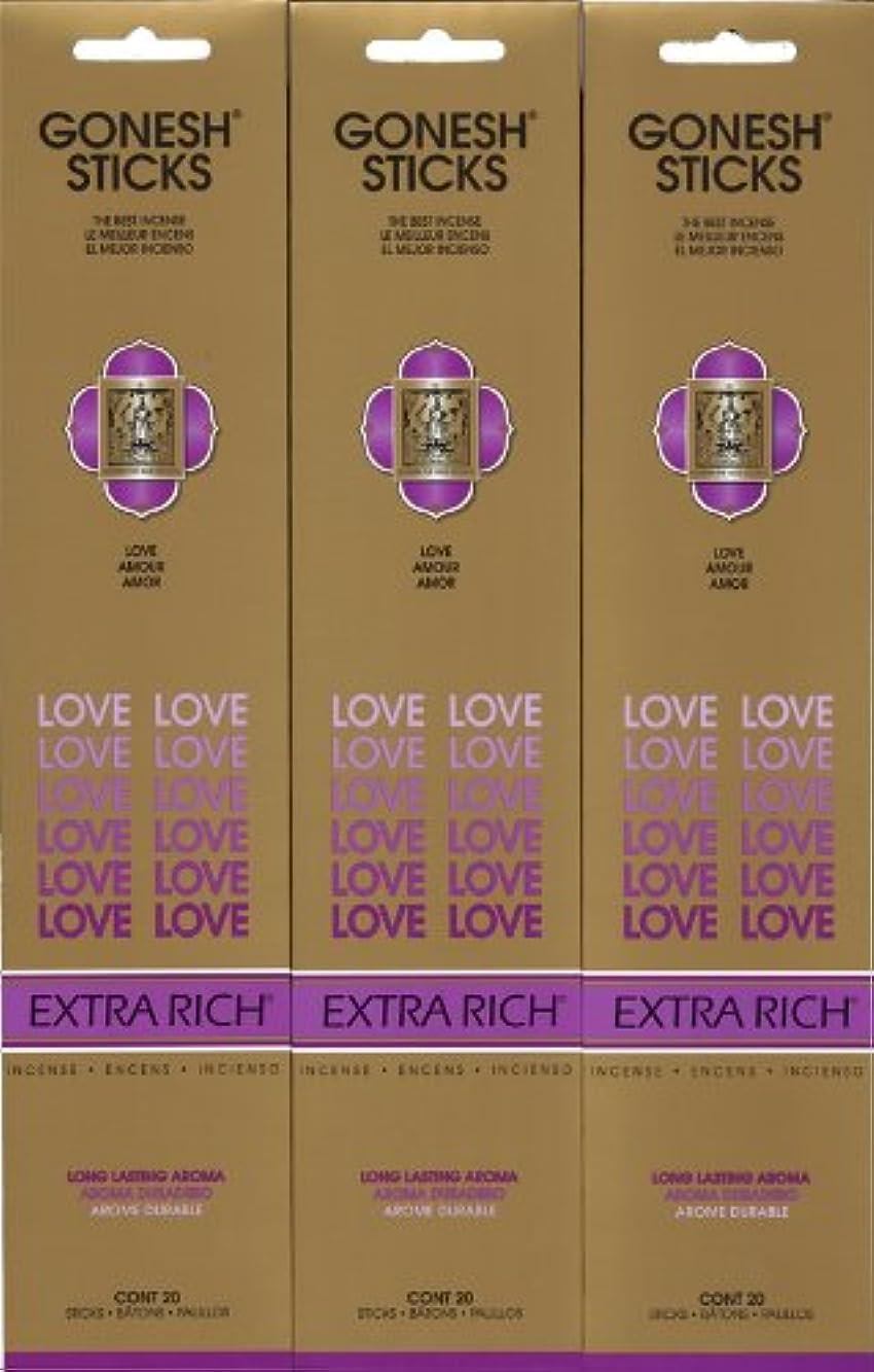 遺棄された日焼けさらにGONESH LOVE ラブ スティック 20本入り X 3パック (60本)