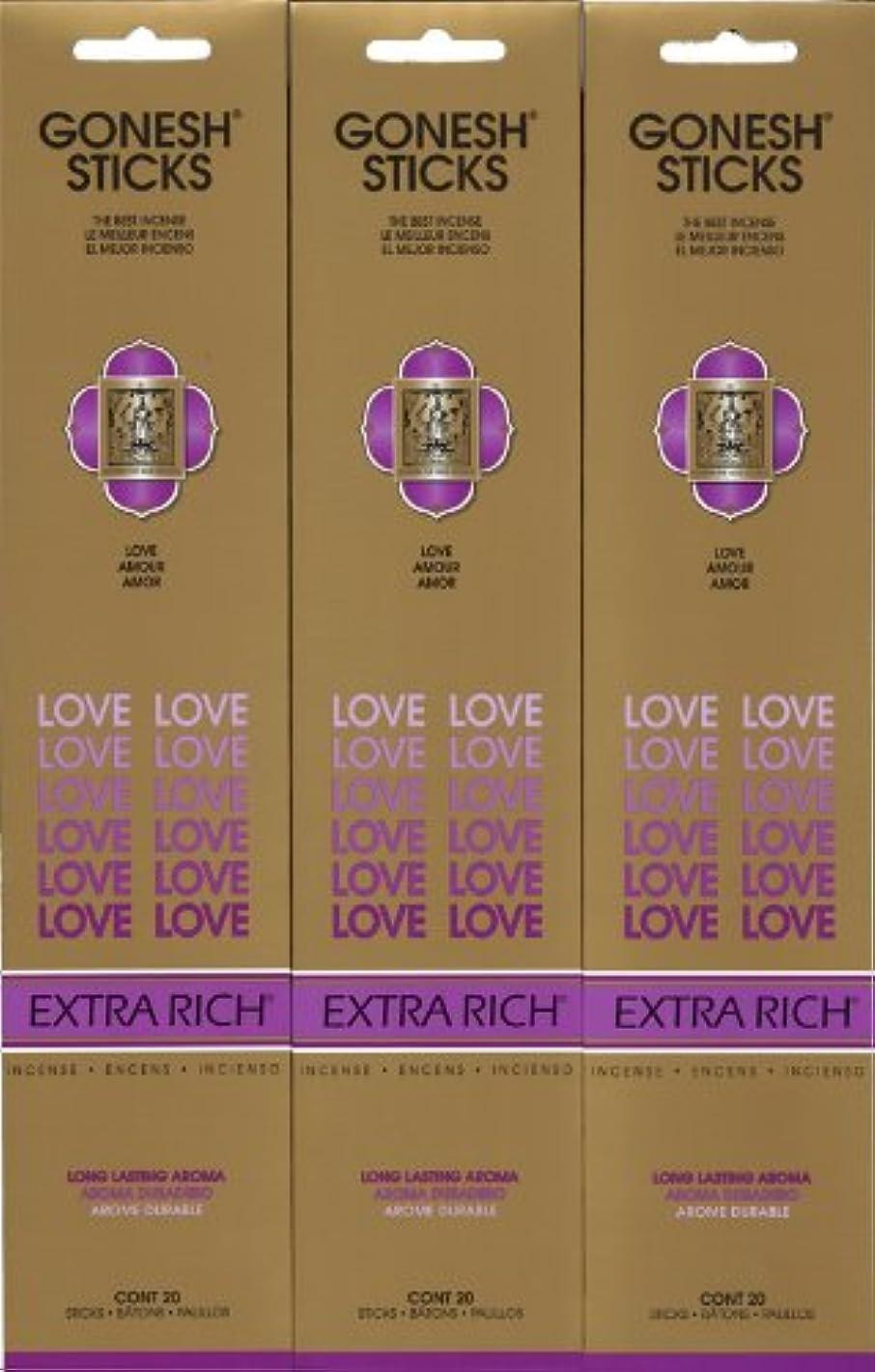 施設重要な役割を果たす、中心的な手段となる説明的GONESH LOVE ラブ スティック 20本入り X 3パック (60本)
