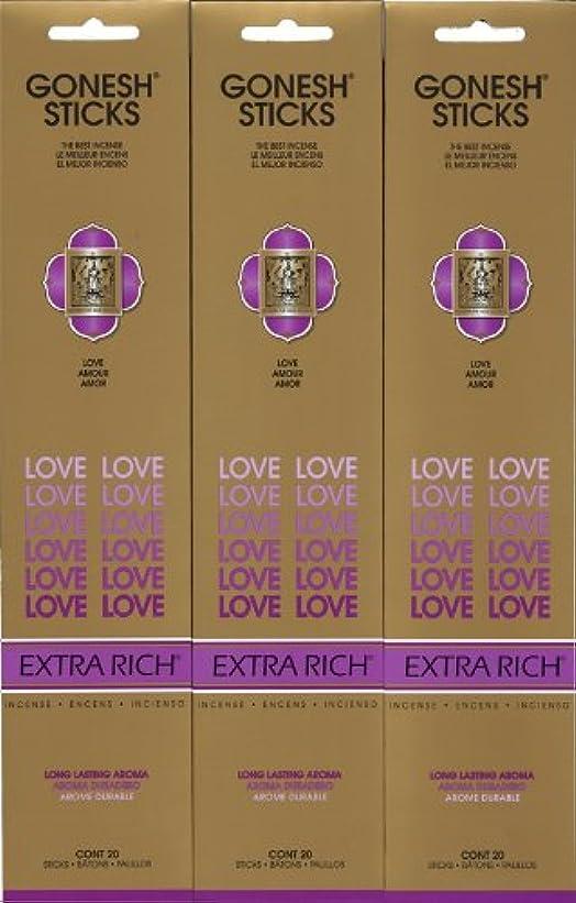 主流考えるブランチGONESH LOVE ラブ スティック 20本入り X 3パック (60本)