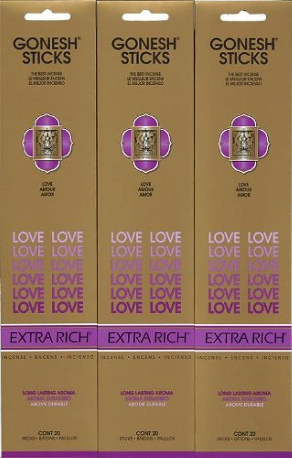 ペース自分の力ですべてをする選択GONESH LOVE ラブ スティック 20本入り X 3パック (60本)