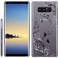 「Breeze-正規品」iPhone ・ スマホケース ポリカーボネイト [透明-Black] Samsung Galaxy NOTE8 ケース SC-01K/SCV37 兼用 ギャラクシーノート8 galaxy note8カバー 液晶保護フィルム付 全機種対応 [GNT8]