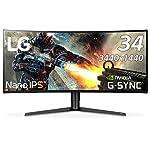 LG ゲーミングモニター ディスプレイ 34GK950G-B 34インチ/3440×1440ウルトラワイド/Nano IPS/G-Sync対応/DisplayPort・HDMI/高さ調節