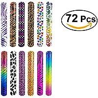 TOYMYTOY スラップブレスレット キッズコスチューム おもちゃ 動物プリント 腕輪 子供用  72個セット