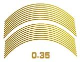 AUTOMAX izumi リム(黄)0.35cm▼直線イエロー反射 幅0.35cmリムステッカー14~16インチ対応 リムライン