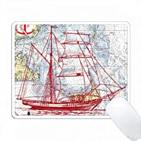 赤い帆船でナンタケットサウンドを印刷 PC Mouse Pad パソコン マウスパッド