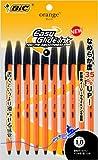 BIC 油性ボールペン オレンジ 1.0 OR10BLK10P 黒 10本