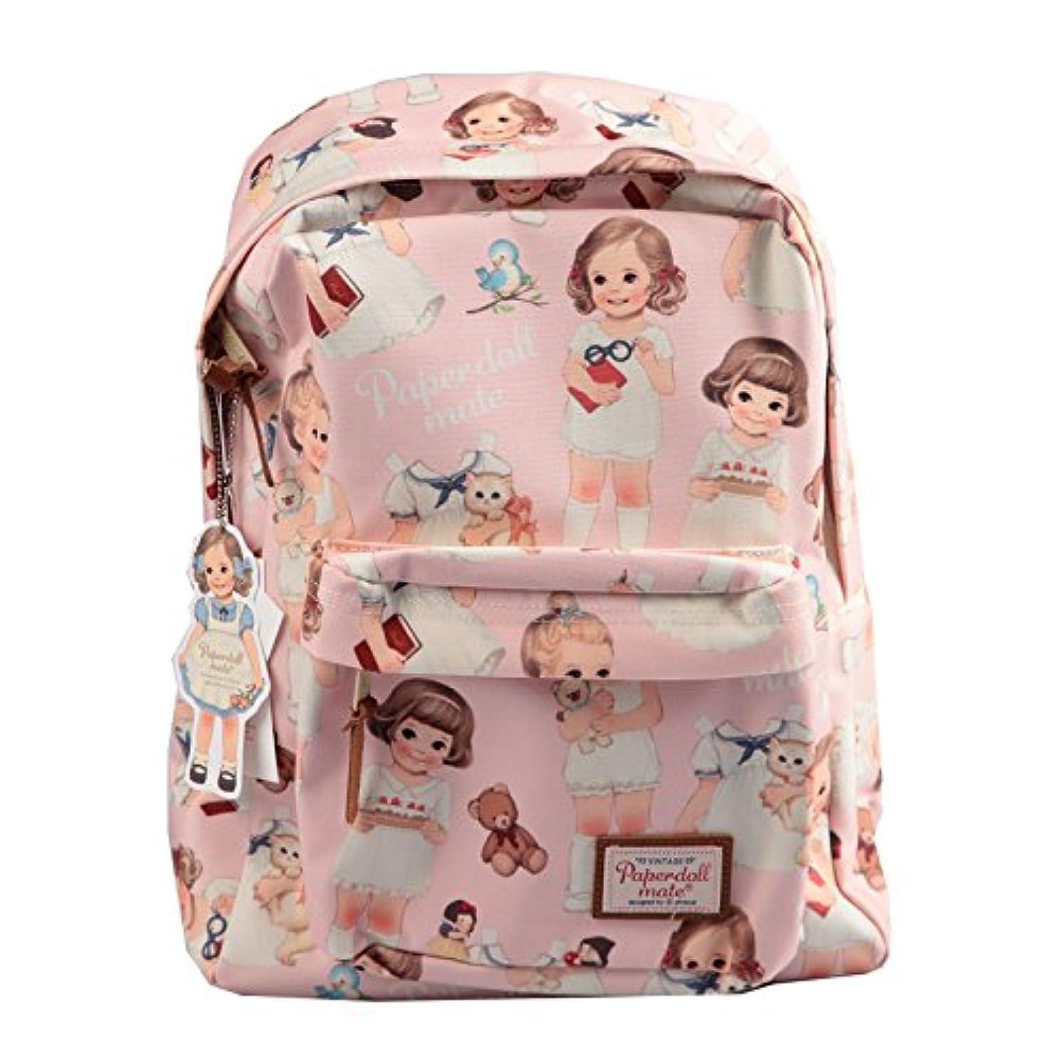 エクステント純粋にしてはいけない[韓国Afrocat] Korea Afrocat Afrocatペーパードールメイトの女性のバックパックバッグ (Afrocat Paper Doll Mate Women's Backpack Bag) (ピンク)...