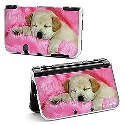 RICHEN 【Nintendo New 3DS LL XL】用 プラスチック保護ケース 収納カバー ハード外壳 プロテクター (寝る犬)
