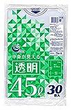 日本技研工業 ゴミ袋 透明 45L 65cm×80cm 厚さ0.03mm 伸びやすく裂けにくい 中身が見る TN-8 30枚入