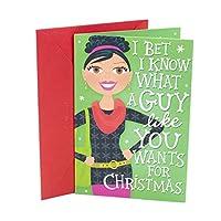 ホールマーククリスマスグリーティングカードに息子(Tall雪だるま)