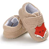 Sakuracan Infant Baby Boys Girls Slippers Non Slips Bottom Winter Booties Stay On Newborn Crib House Shoes Size: 6-12 Months Infant