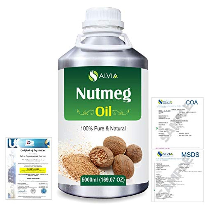 集まる肯定的インチNutmeg (Myristica fragrans) 100% Natural Pure Essential Oil 5000ml/169fl.oz.