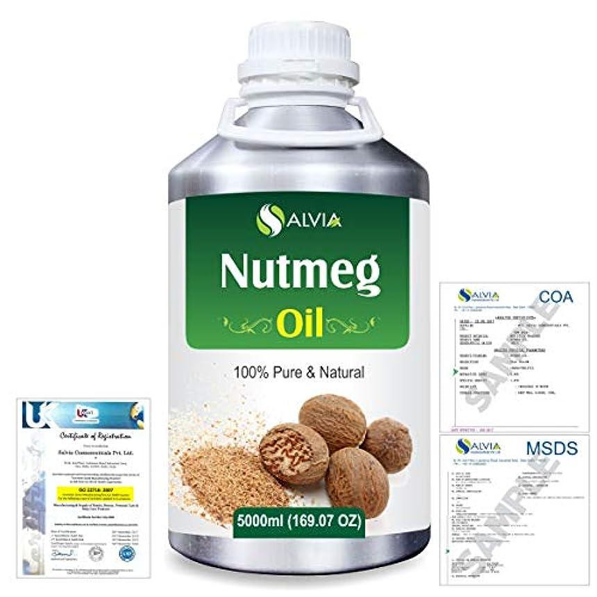 行き当たりばったり識別する残酷Nutmeg (Myristica fragrans) 100% Natural Pure Essential Oil 5000ml/169fl.oz.