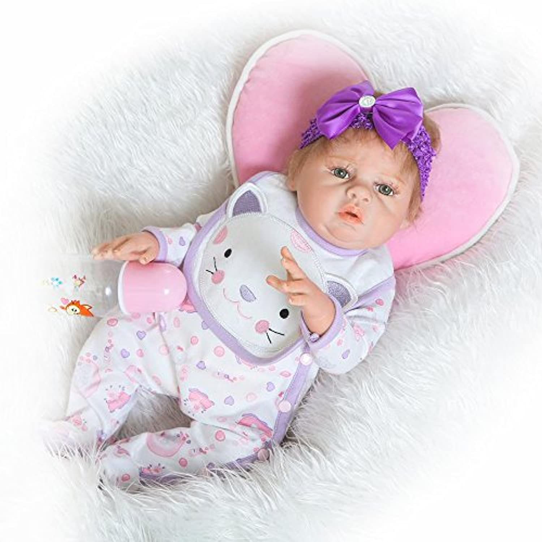 Rebornベビー人形ソフトフルボディシリコンビニール20インチ50 cm Lovely Lifelikeキュート赤ちゃん男の子女の子おもちゃ