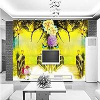 Mzznz 壁画ファンタジー漫画風景カスタム壁紙壁紙子供部屋の寝室の家の装飾壁画-280X200Cm