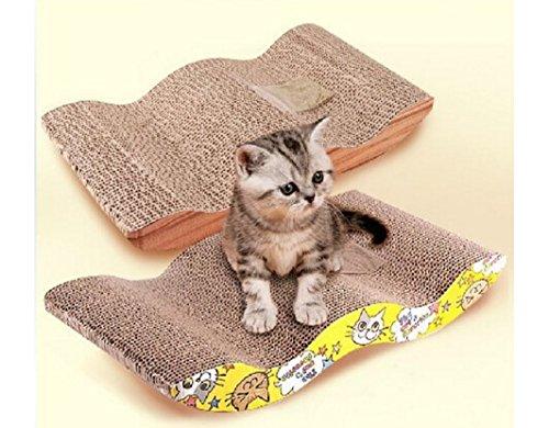 Bravebird ネコ 猫 ベッド ペット グッズ 爪 とぎ 磨き M字型 ベッド型 S字型 V字型 選択 畳色 (M字型 畳色) bb400