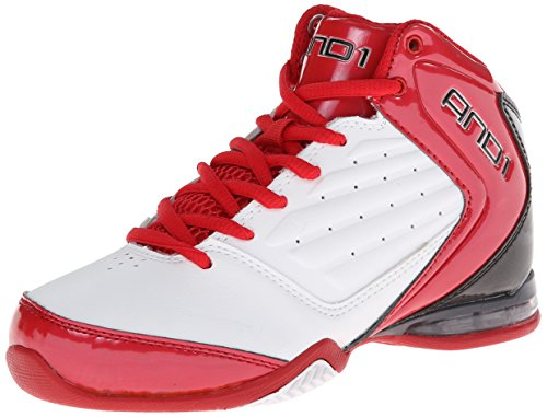[アンドワン] AND1 MASTER 2 MID 1072BWR BWR (White/Varsity Red/lack/5.0(23.0))