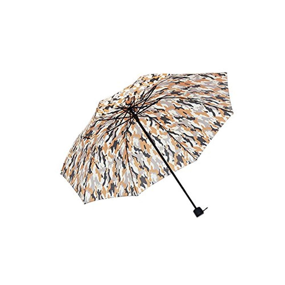 使い込む静けさわかるイエローカモフラージュシングル実用レトロファッション手作りの傘