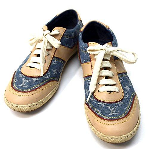 (ルイ・ヴィトン)LOUIS VUITTON モノグラムデニム 靴 スニーカー モノグラムデニム/ヌメ革 レディース 中古