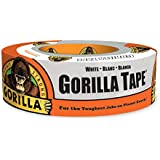 """Gorilla Tape, White Duct Tape, 1.88"""" x 30 yd, White, (Pack of 1)"""