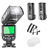 Neewer NW-562C E-TTL Flash Speedlite Kit for Canon DSLR Camera,Kit Include:(1) NW562C Flash+(1) FC-16 2.4Ghz Wireless Trigger(1 * Transmitter+1 * Receiver)+(1) Microfiber Cleaning Cloth