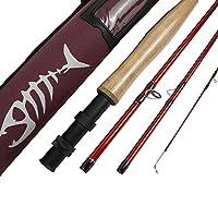 すべての回Fly Fishing Rod im8グラファイトFly Fishing Rod空白8.6/ 9/ 10ft 4pcフライロッドミディアム高速アクションフライ釣りロッドim8Graphite with Corduraロッドチューブ レッド