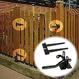 ラティスやフェンスが門扉(ゲート)に変身 ゲート金具セット [ワンタッチ閂錠+蝶番×2] ブラック LV-G4P