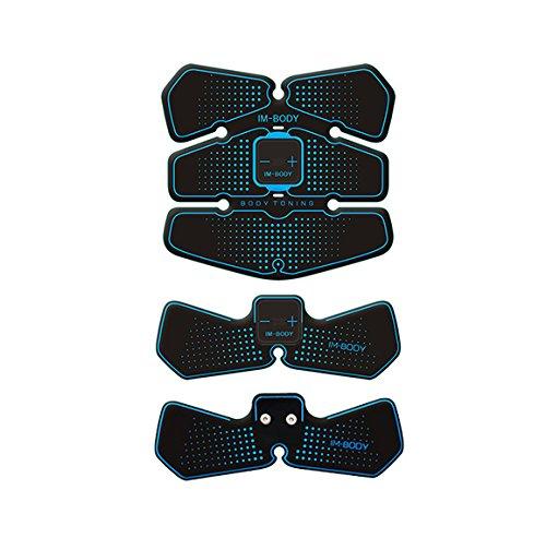 超薄型超軽量超コンパクトEMS腹筋トレ 腹筋マシン 腹筋ベル,お腹引き締め 腕部 太もも 減量用 運動用,筋 トレーニング (ブルー02)