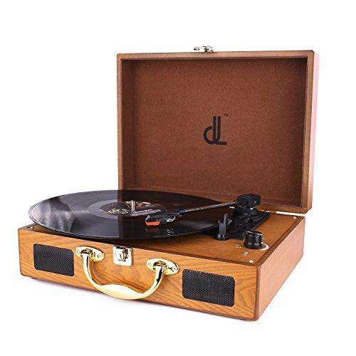 D&L SOUL レコードプレーヤー スーツケース型 USB...