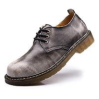 [AcMeer] ワークシューズ ワークブーツ メンズ マーチンシューズ ローカット 革靴 レースアップ エンジニアブーツ カジュアル 5色 大きいサイズ 28