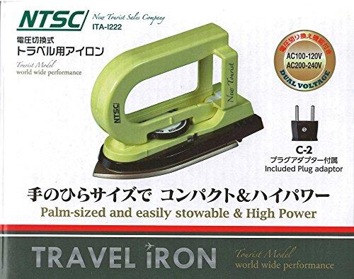 NTSC 電圧切替式トラベル用アイロン 【100-120V/...