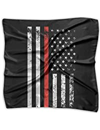 ブラック?アメリカの国旗 ハンカチ プリント ポケットチーフバンダナ 正方形 プレゼント 母の日 贈り物 男女兼用 60 X 60cm/100 X 100cm