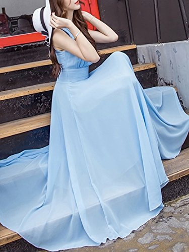 828f98d02fd2c ...  ゴラッソ  ワンピースドレス マキシ丈 スカイブルー S ドレス オフショル キャバ服 キャバドレス ...