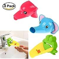 Emfay 赤ちゃん 蛇口 ウォーターガイド 手洗い 補助 サポート 子供用 便利 簡単 取り付け 3点セット