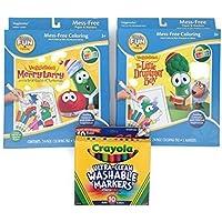 DaySpring VeggieTalesバンドル3アイテム – 1 Merryラリー?色Wonderパック、1 Little Drummer Boy Wonderパック、1 Crayola Washableマーカー( 10色)