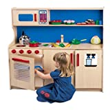 Constructive Playthings kdk-53木製効率Kitchenette for Kids
