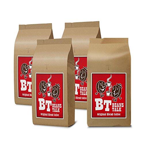 【 Amazon.co.jp 限定 】ビーンズ トーク オリジナル ブレンドコーヒー 粉 2kg (500g×4) (【中挽き(ペーパー等)】)