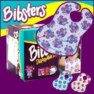 bibsters パンパースビブスター 使い捨て よだれ掛け 60枚入り エルモ