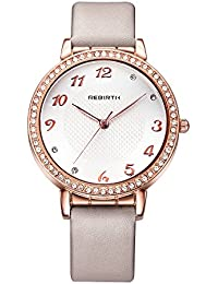 華麗な女性の女性と女性のためのドレス腕時計輝く高貴なクリスタルとゴールドケースの時計をバラ