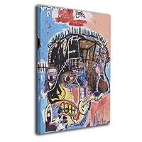 バスキアキャンバス絵画 アートパネル フォトフレーム 絵画 モダンフレーム装飾画 壁飾り 壁ポスター おしゃれ インテリア ポスター おしゃれ アートパネル モダン 30*40 40*50