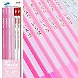 名入れ 三菱鉛筆 かきかた鉛筆 ユニパレット 2B パステルピンク 1ダース 赤鉛筆付 K55642B