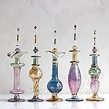 エジプト・ガラス香水瓶/Key Life社 5本セット Egyptian Purfume Bottle