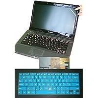"BingoBuy 2イン1ウルトラシンソフトUSレイアウトキーボードスキンカバー+ 11.6"" Anti Glare &アンチ指紋& Anti Scratch Screen Protector (長: 257mm x幅: 145mm for Asus VivoBook ux21e q200e s200e x200ca x200ma k200ma x202e x205t x205ta f202e f200ma f200la Transformer Book Trio tx201la t200ta Taichi 21ノートパソコンwith BingoBuyカードケースクレジットカード、銀行、IDカード"