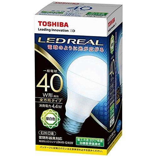 東芝 LED電球 一般電球形 全方向形 昼白色40W形相当 ...